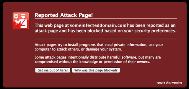 صفحه malware
